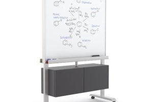 Kimball- Rolling White board with storage
